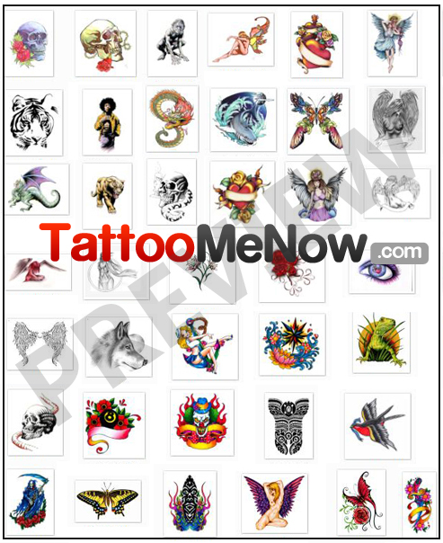 A huge selection of tattoo designs.