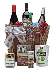 International wine gift basket